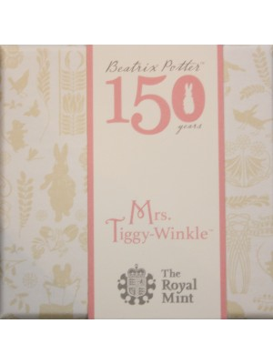 2016 Mrs Tiggy Winkle Silver Proof 50p Coin Beatrix Potter Series